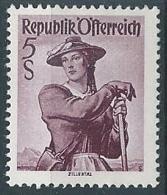 1948-50 AUSTRIA COSTUMI REGIONALI 5 S MNH ** - A050-2 - 1945-.... 2a Repubblica