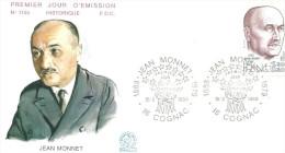 Cognac 15 03 1980 Jean Monnet - FDC
