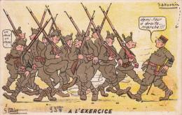 CPA  Soldats Militaires Militaria Humour Cachet Ecole Militaire D' Artillerie De POITIERS - Humoristiques
