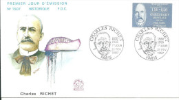 Paris 21 02 1987  Charles Richet - FDC