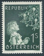 1953 AUSTRIA NATALE MH * - A078 - 1945-.... 2a Repubblica