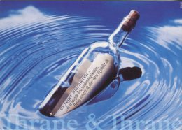 Free Card Advertising  Postcard, Thrane And Thrane (Job Opportunity For Engineers) Message In A Bottle, 38 - Publicité