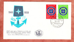 FDC, Nato, Erstausgabestempel Bruessel 1959 (78643) - FDC
