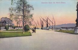 GENEVE, Switzerland, 1900-1910's; Quai Du Mont Blanc - GE Ginevra