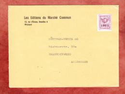 Brief, Vorausentwertung, Bruxelles Nach Braunschweig 1965 (24727) - Vorfrankiert