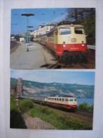 ALLEMAGNE : CHEMIN DE FER - DB -Locomotive Electrique Série 112 000 - LOT DE 2 CPM - Voir Les Scans - Trains