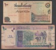 Sudan,1994,100 Dinar + 2006, 10 Pound ,G . - Sudan