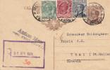 ITALIEN 1928 - 30 C Ganzsache Mit 3 Fach Zusatzfr.auf R-Pk Von Bolzano Nach Thal/St.Gallen - Ganzsachen