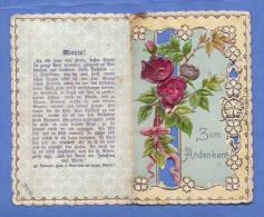 HEILIGENBILD (Prägebild, Seidenrosen) Andenken An St.Maria Brunn, Um 1900, Mehrseitig - Andachtsbilder
