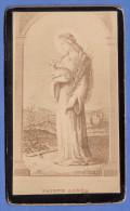 HEILIGENBILD (Foto Auf Karton) Andenken An SAINTE AGNÈS, Vor 1900 - Andachtsbilder