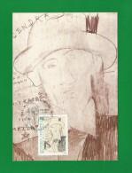 Frankreich 1987  Mi.Nr. 2630 , Blaise Cendrars  - Maximum Carte - Premier Jour 6 Novembre 1987 - Cartes-Maximum
