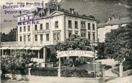 Aigle Hôtel Beau Site Cachet Censure Griffe S Prisonniers Franco Belge Internement Vers Neder-Over-Heembeek 1916 Ww1 - BE Berne
