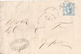 A845-15 Cent Lito 1° Tipo Del 21 Maggio Lettera Con Testo Da Siena A Grosseto. Leggi... - 1861-78 Vittorio Emanuele II