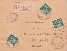 St. Avertin ( Indre Et Loire ) :TP. N° 432 X 3 ( Iris )  Sur Lettre Avec T.à D. Horoplan. (TTB ) - Marcophilie (Lettres)
