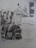 Déjeuner Menu Jourdan Champagne Mumm Cordon Rouge 1896 Willette - Riviste - Ante 1900