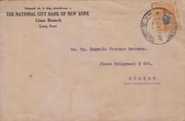 G)1920 PERU, SAN MARTIN, CIRCULAR BLACK LIMA CANC., CIRCULATED COVER TO CARIBEAN DESTINATION, XF - Peru