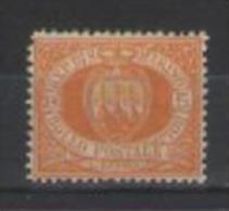 SAN MARINO 1877 CIFRA O STEMMA SASS. 2 MNH VF - San Marino