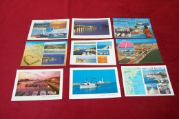LOT DE 9 CARTES DE  POSTALES   DE PORT LA NOUVELLE - Port La Nouvelle