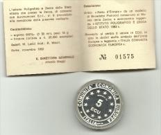 1993 - Italia - Medaglia Unità Monetari, - Altri