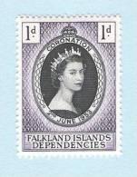 1953 QUEEN ELIZABETH CORONATION   FALKLAND ISLANDS DEPENDENCIES - Groot-Brittannië (oude Kolonies En Protectoraten)