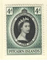 1953 QUEEN ELIZABETH CORONATION  PITCAIRN ISLANDS - Groot-Brittannië (oude Kolonies En Protectoraten)
