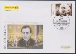 MB 2422) BRD Mi# 2399 FDC Exklusiv: 100. Geburtstag R. SCHWARZ-SCHILLING - Musik