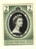 1953 QUEEN ELIZABETH CORONATION   DOMINICA - Dominica (1978-...)