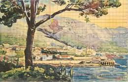 - Ref -H796 - Monaco - Monte Carlo  -vue Prise De Monaco - Carte Illustree - Illustrateur - - Monte-Carlo
