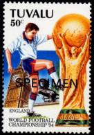 SOCCER-FIFA WORLD CUP-1994-SPECIMEN-SET OF 4-TUVALU-MNH-SCARCE-B8-60 - World Cup