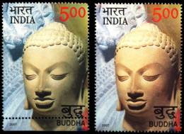 RELIGION-BUDDHISM-LORD BUDDHA-HUGE ERROR-PART SET-5 VALUES-INDIA-2007-MNH-RARE-B8-63 - Buddhism