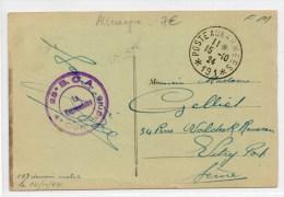 1924 - CP FM POSTES AUX ARMEES *191* - Marcophilie (Lettres)