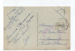 """1934 - CP FM De FEZ (MAROC) Avec CACHET """"37° REGIMENT D´AVIATION /CENTRE DE FES"""" - Marcophilie (Lettres)"""