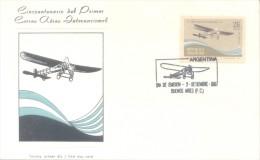 CINCUENTENARIO DEL PRIMER CORREO AEREO INTERNACIONAL TEODORO FELS 1917-1967 FDC REPUBLICA  ARGENTINA - Vliegtuigen