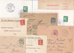 14958# AISNE LOT 15 LETTRES TAVAUX BRAINE HARTENNES ET TAUX CHARLY JAULGONNE ST QUENTIN SOISSONS ETREILLERS - Poststempel (Briefe)