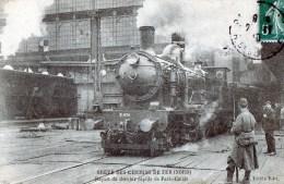 56Ba  Greve Des Chemins De Fer Départ Du Dernier Rapide De Paris Calais Train En Gros Plan - Grèves