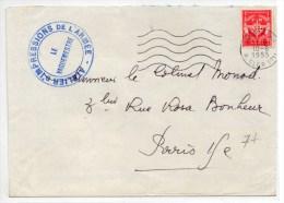 1955 - ENVELOPPE FM De L´ATELIER D'IMPRESSIONS DE L'ARMEE - Marcophilie (Lettres)