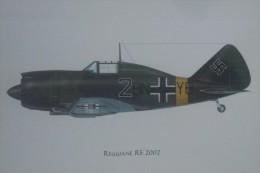 LUFTWAFFE WW2 AEREI CACCIA REGGIANE RE 2002 GESCHWADER BONGART FRANCIA 1944 - 1939-1945: 2nd War