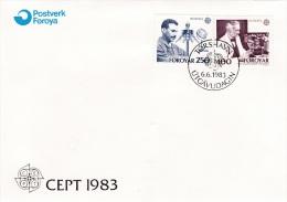 Faroe Islands FDC: 1983 Europa CEPT   (G76-33) - Féroé (Iles)