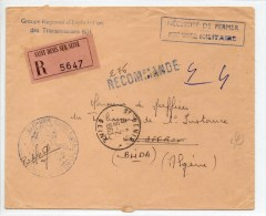 1963 - ENVELOPPE FM RECOMMANDEE Du GROUPE REGIONAL D´EXPLOITATION DES TRANSMISSIONS 801 Pour L´ALGERIE - Marcophilie (Lettres)