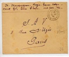 1924 - ENVELOPPE FM POSTES AUX ARMEES *192* - Marcophilie (Lettres)