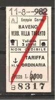 Biglietto autobus   percorso BAVENO-VERBANIA VILLA TARANTO