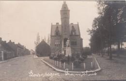 Zwarte Fotokaart Gemeentehuis  Lovendegem - Lovendegem