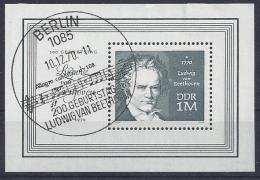 Germany  (DDR) 1970  Ludwig Van Beethoven  (o) Mi.1631 (block 33) - DDR