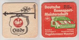 Gilde Brauer Hannover , 1981 , Deutsche Rennsport Meisterschaft - Bierdeckel