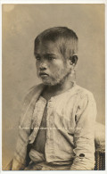 Real Photo Freak Human Specimen Similar To Monkey Curious Enfant Singe Written From Philippines National Bank 1924 - Filipinas