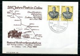 """DDR 1982 Sonderbeleg/Cover """"200 Jahre Post In Calau Mit Mi.Nr.2579 Und Sorben SST""""Calau-200 Jahre Post In Calau """"1 Beleg - [6] République Démocratique"""