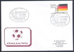 Germany Deutschland 1990 Cover: Football Fussball Soccer Calcio; FIFA WM Weltmeisterschaft Cachet; Fussball Cancellation - Wereldkampioenschap