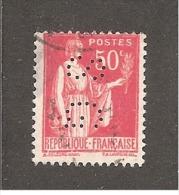 Perforé/perfin/lochung France No 283 SG  Société Générale (100) - Perforés