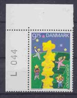 Europa Cept  2000 Denmark 1v  (corner + Number)  ** Mnh (23655) - 2000