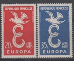 FRANCE - 1958 -  ** - Y&T 1173/74  - Série EUROPA - Valeur 2€ - Frankrijk